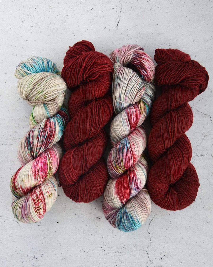 Destination Yarn fingering weight yarn BARN RED
