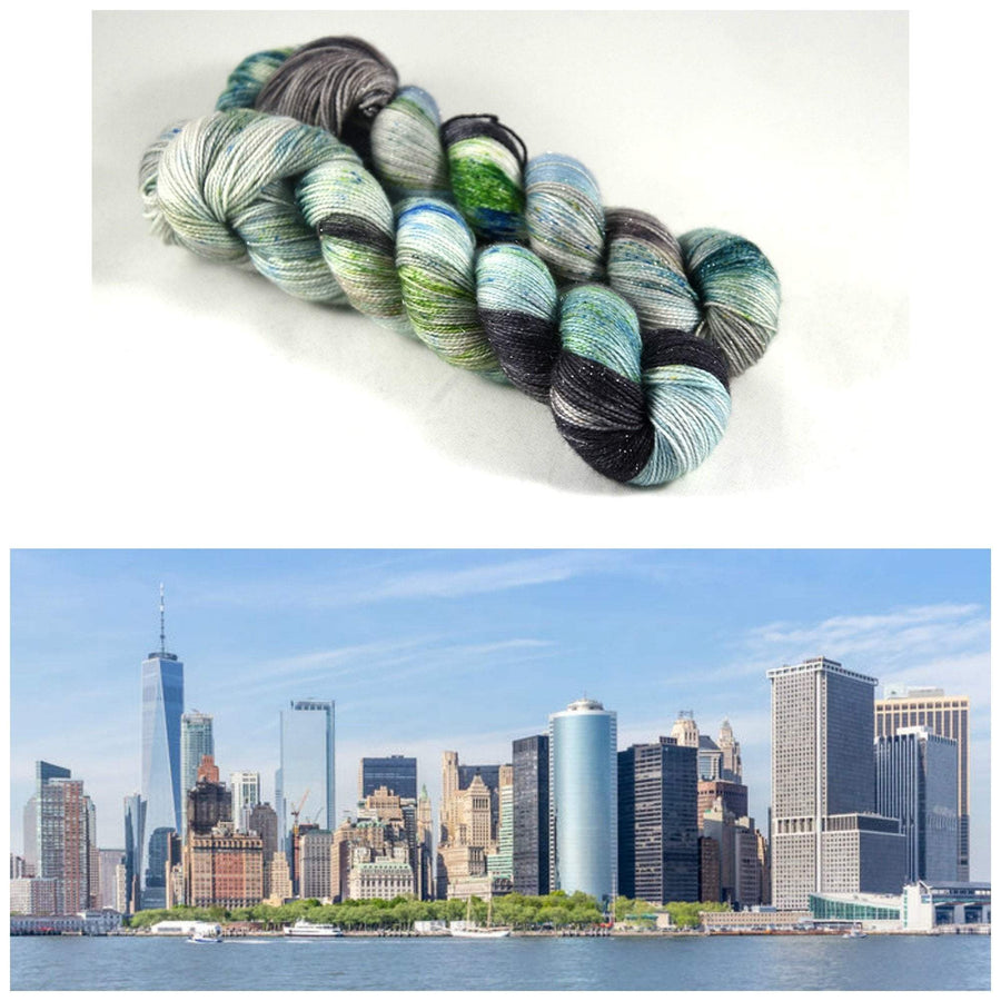 Destination Yarn fingering weight yarn Battery Park - all weights