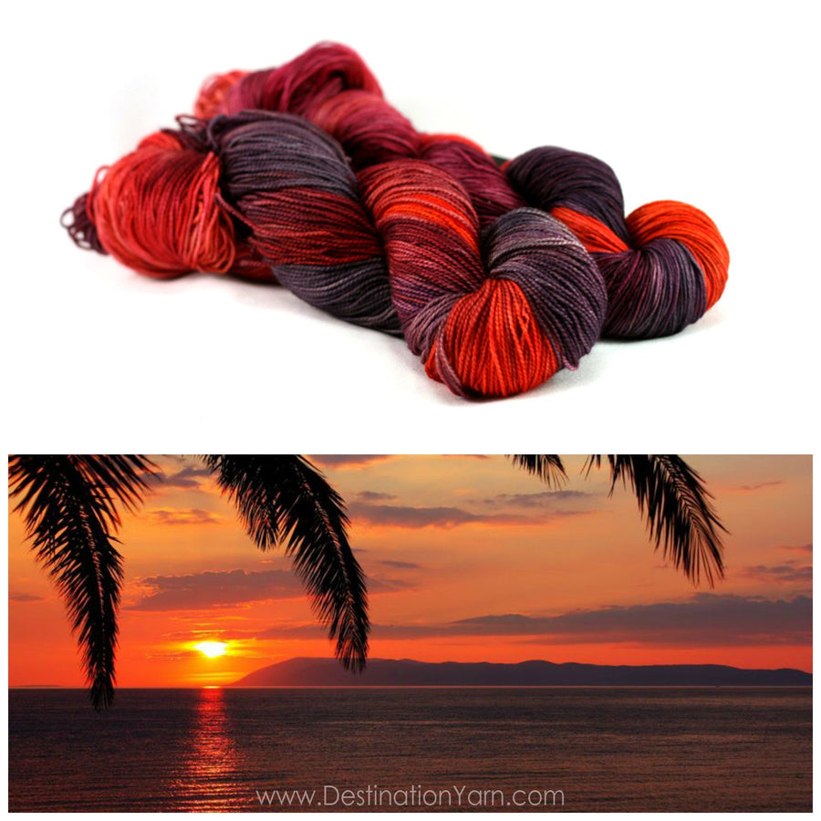 Destination Yarn fingering weight yarn BEACH SUNSET