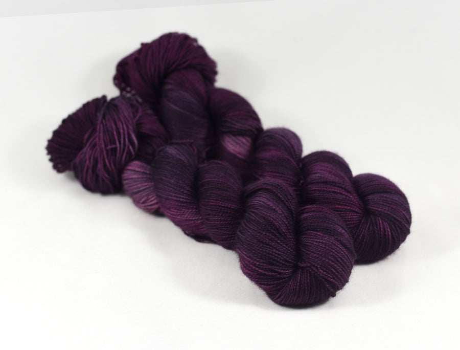 Destination Yarn fingering weight yarn Bordeaux