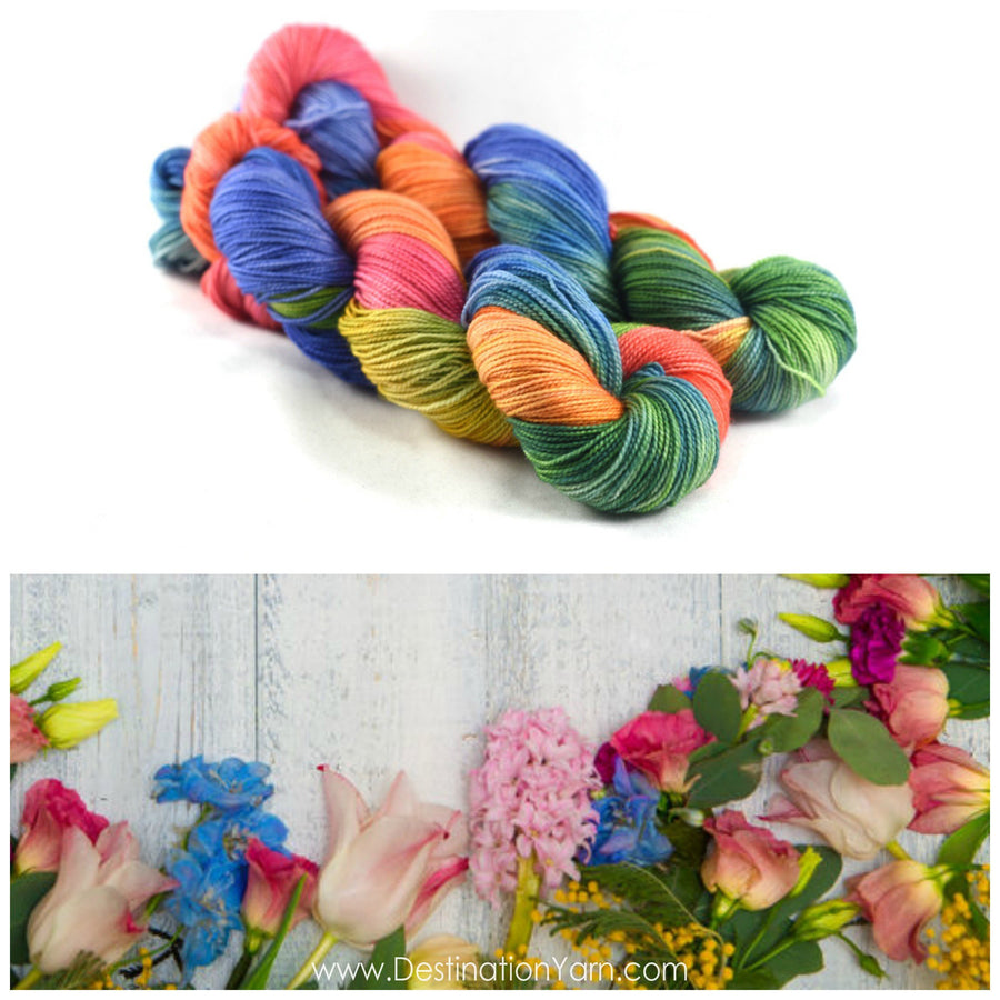 Destination Yarn fingering weight yarn CELEBRATE SPRING!