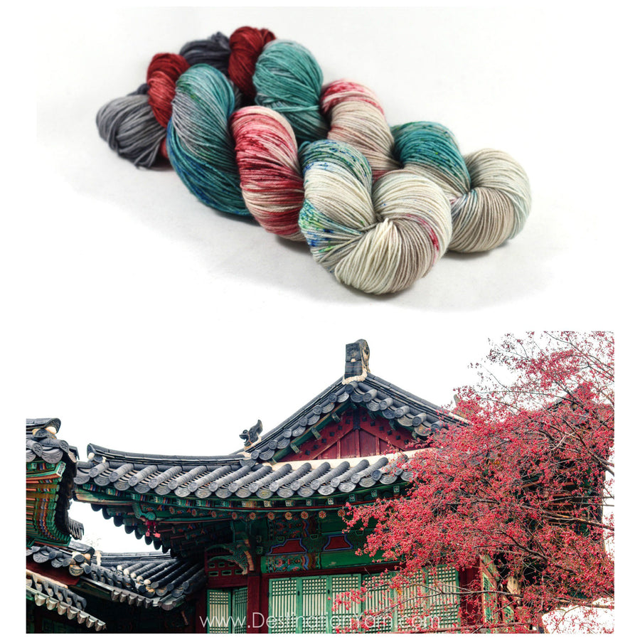 Destination Yarn fingering weight yarn Changdeok Palace
