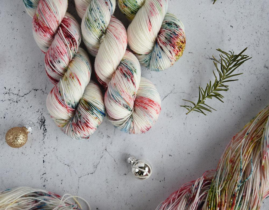 Destination Yarn fingering weight yarn Christmas Crazy