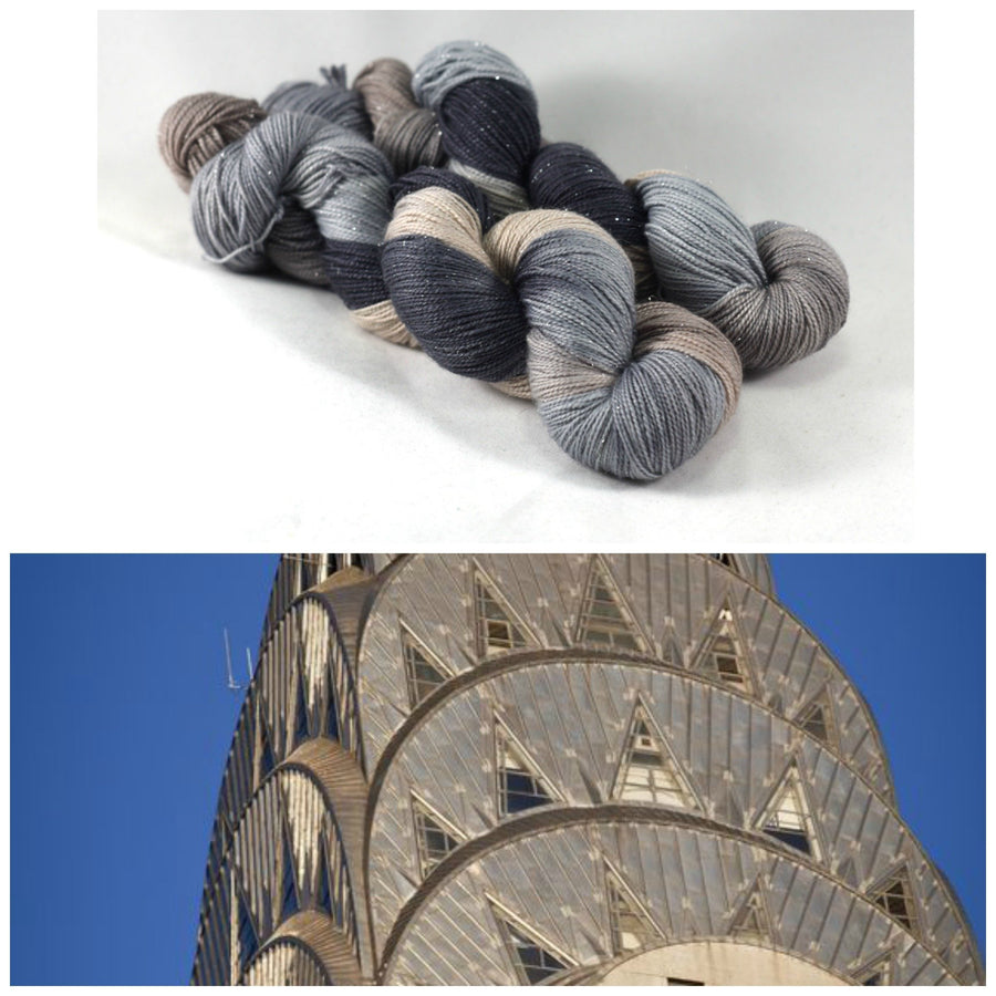 Destination Yarn fingering weight yarn Chrysler Building