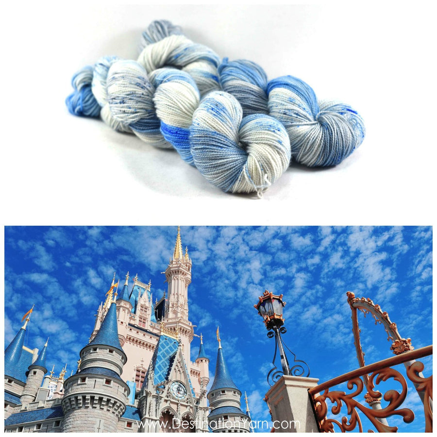 Destination Yarn fingering weight yarn CINDERELLA'S CASTLE