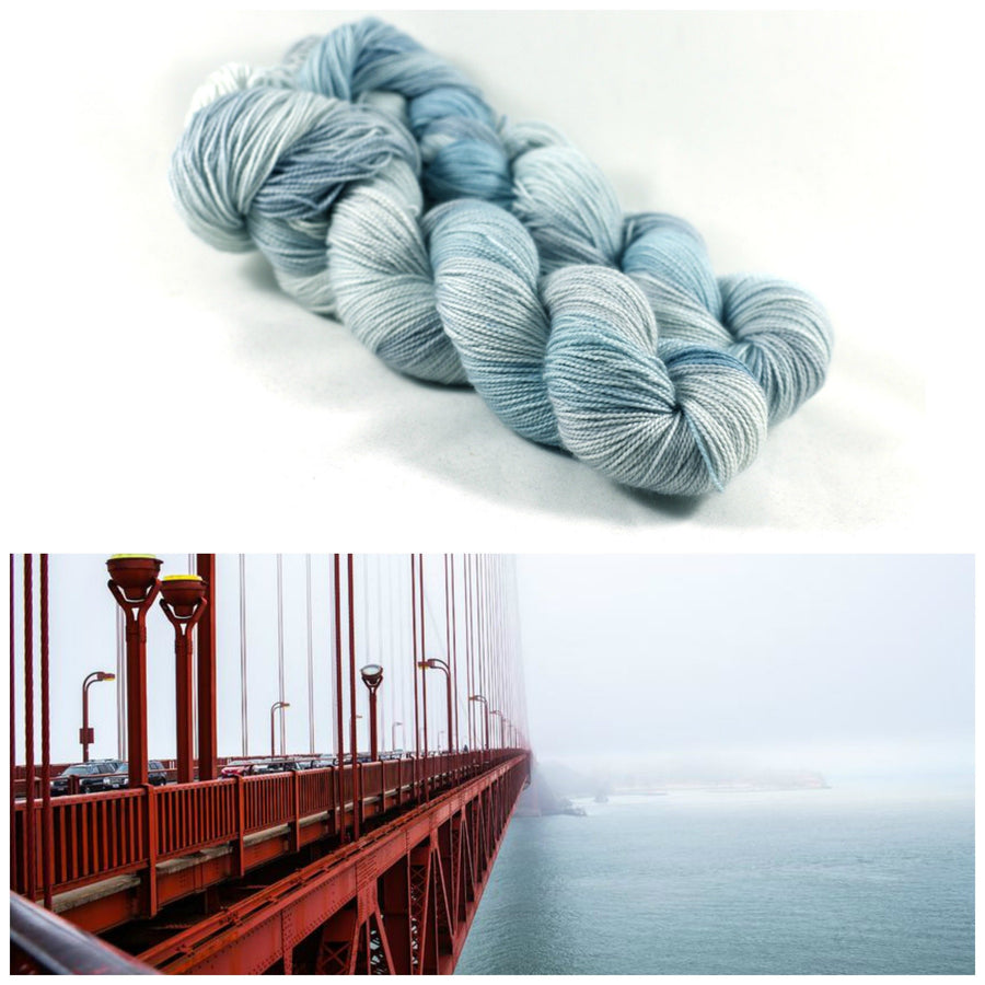Destination Yarn fingering weight yarn Coastal Fog