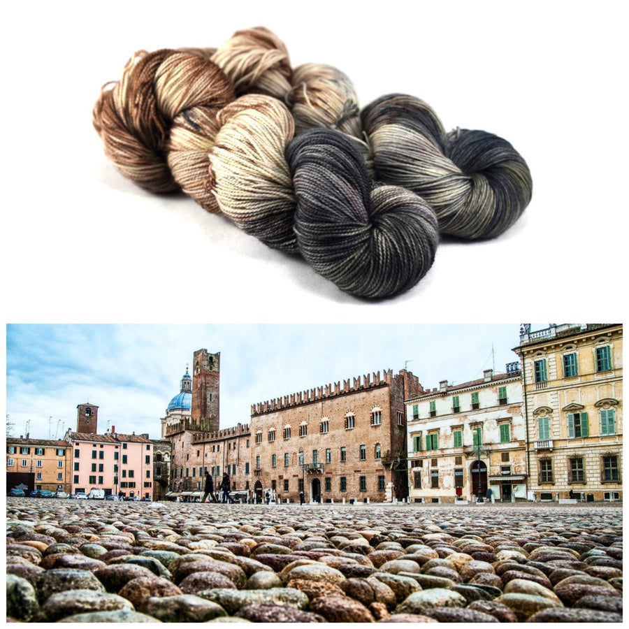 Destination Yarn fingering weight yarn COBBLESTONE SQUARE