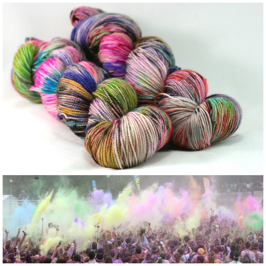 Destination Yarn fingering weight yarn COLOR RUN