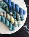 Destination Yarn fingering weight yarn Cool Planets Set - DYED TO ORDER