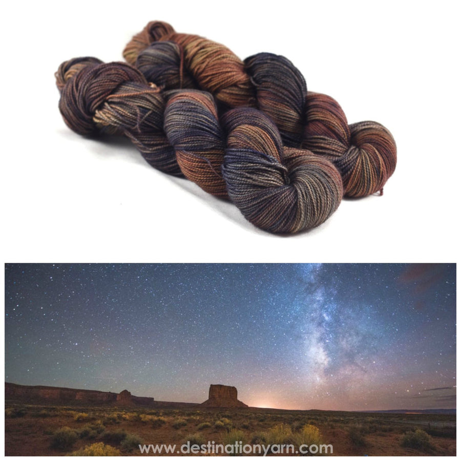 Destination Yarn fingering weight yarn DESERT NIGHT