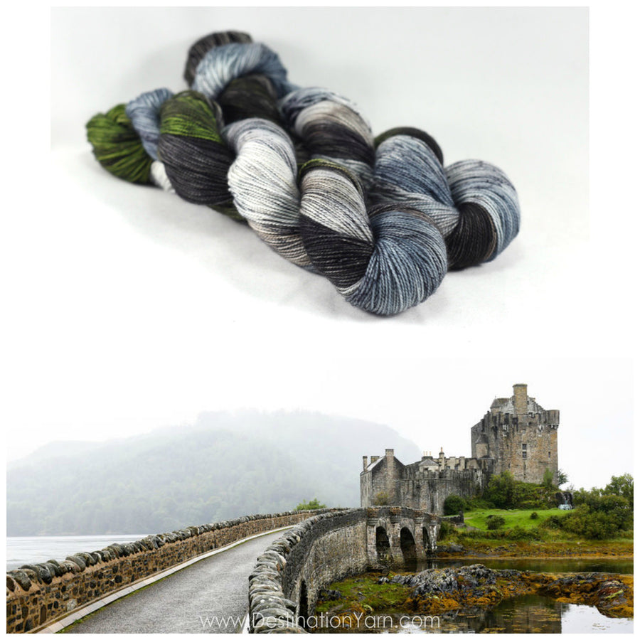 Destination Yarn fingering weight yarn Eilean Donan Castle