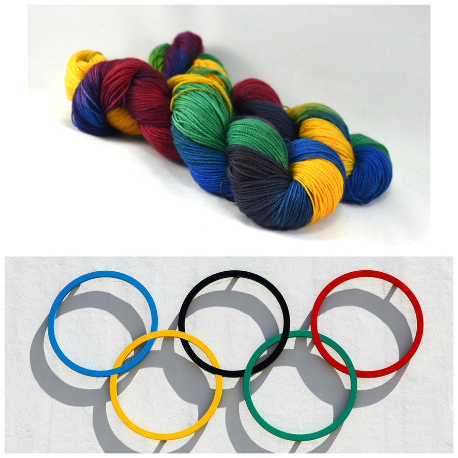Destination Yarn fingering weight yarn Five Rings