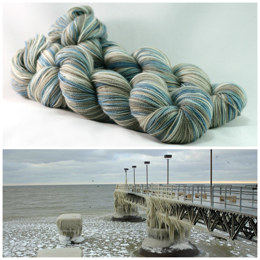Destination Yarn fingering weight yarn FROZEN GREAT LAKE
