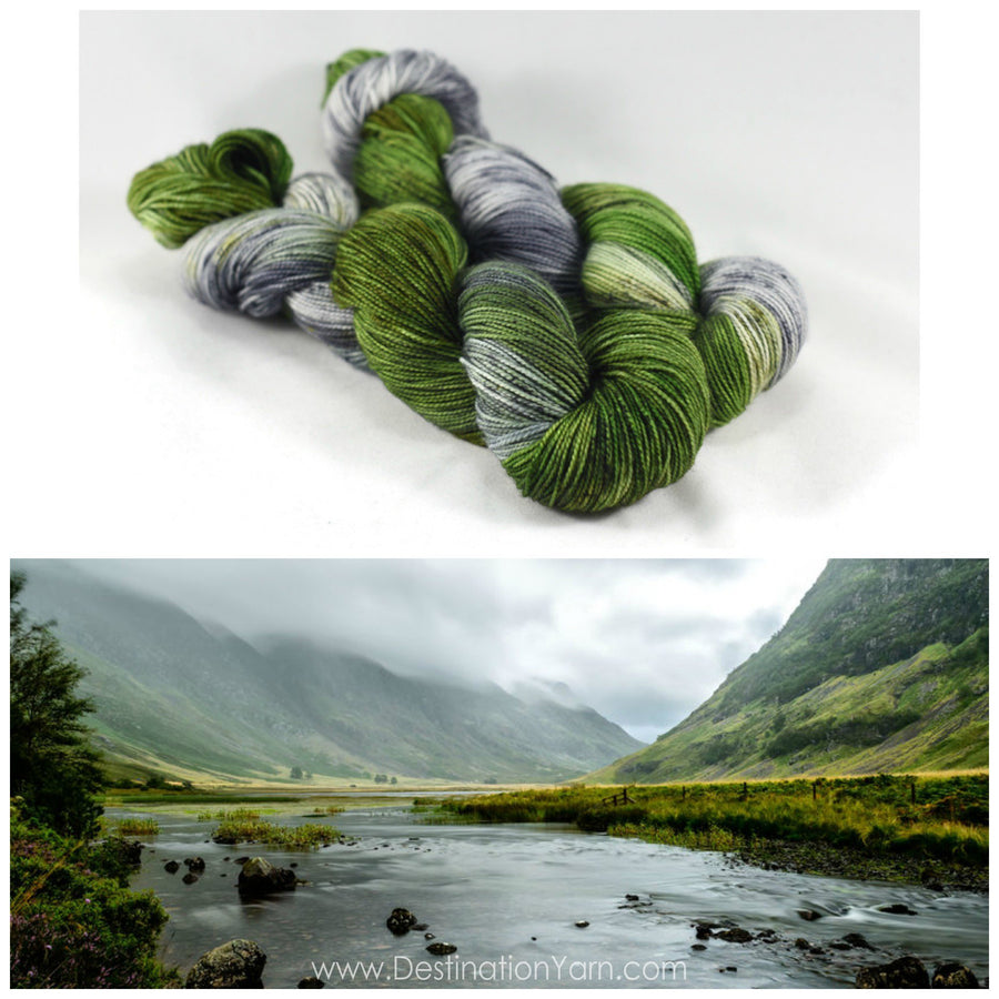 Destination Yarn fingering weight yarn Glen Coe