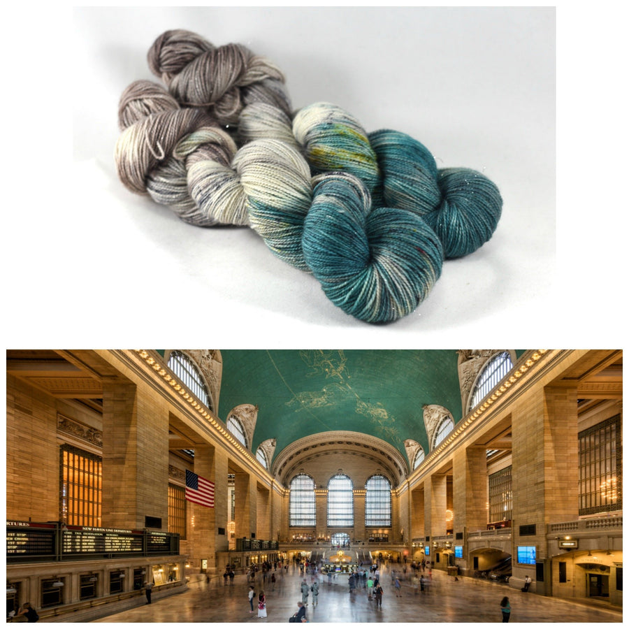 Destination Yarn fingering weight yarn Grand Central Station