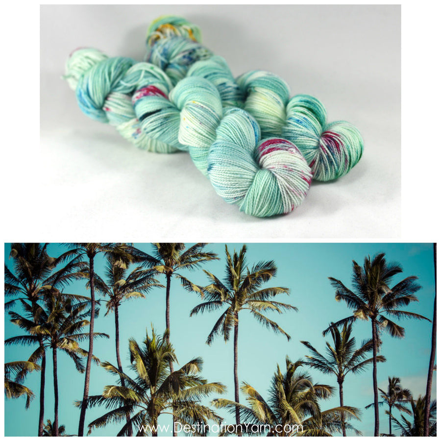 Destination Yarn fingering weight yarn Hawaiian Christmas - PREORDER