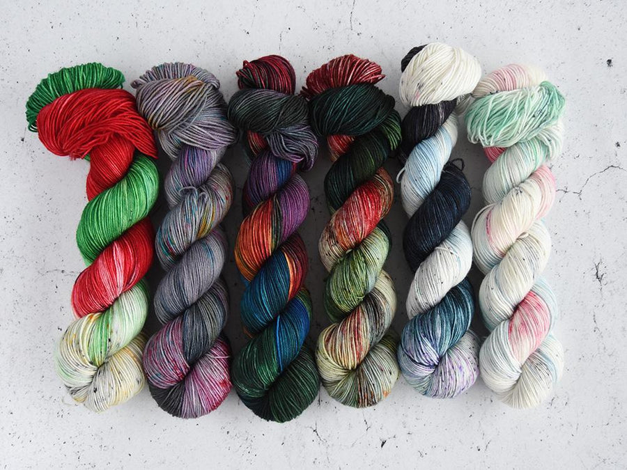 Destination Yarn fingering weight yarn Holiday 2018 Collection - FULL SKEIN SET