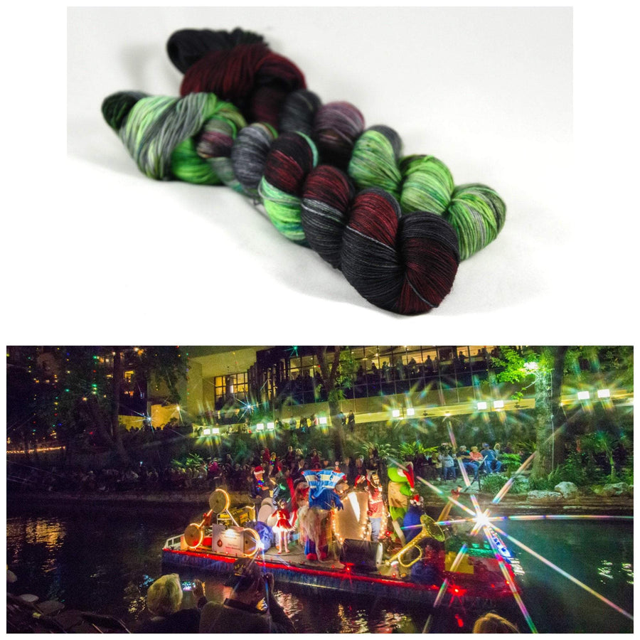 Destination Yarn fingering weight yarn Holiday River Parade