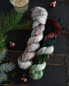 Destination Yarn fingering weight yarn Holidays at Williamsburg
