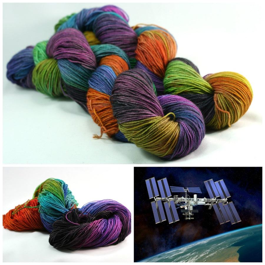 Destination Yarn fingering weight yarn International Space Station - Dyed to Order