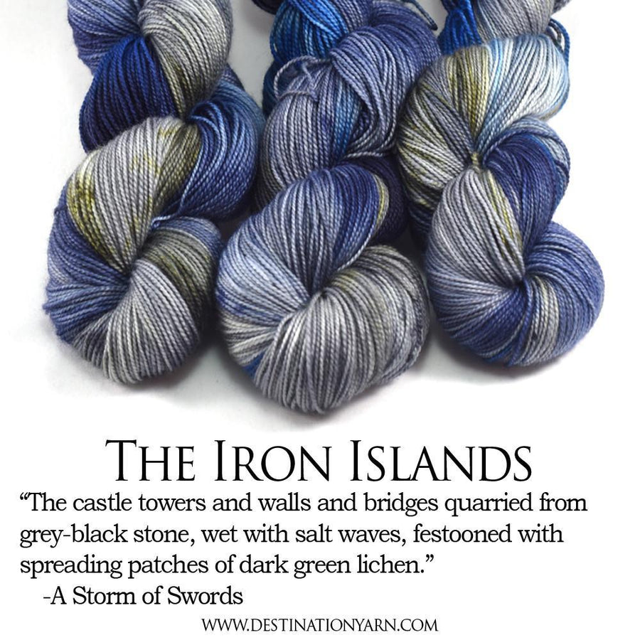 Destination Yarn fingering weight yarn Iron Islands
