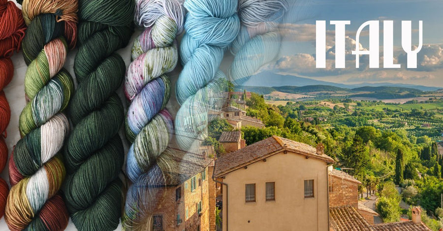 Destination Yarn fingering weight yarn Italy - FULL SKEIN SET