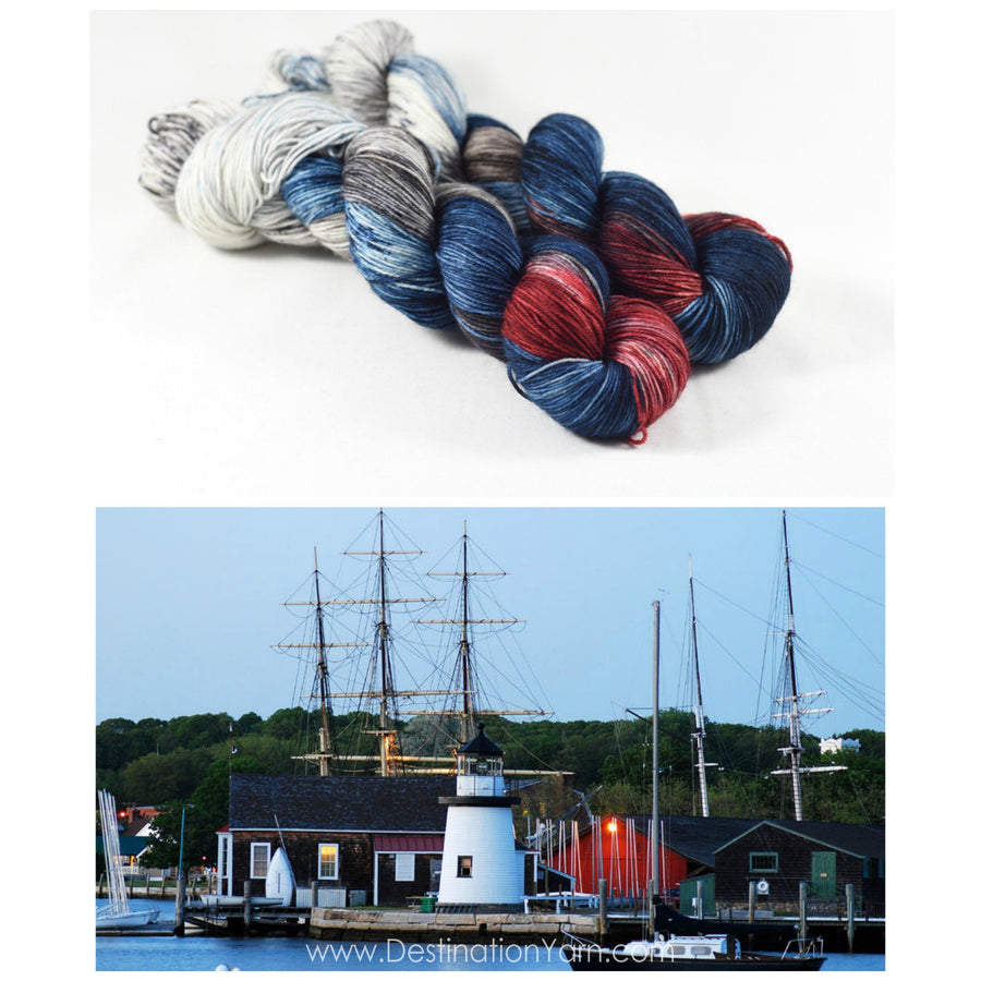 Destination Yarn fingering weight yarn Mystic CT