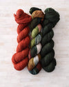 Destination Yarn fingering weight yarn Olive - dyed to order