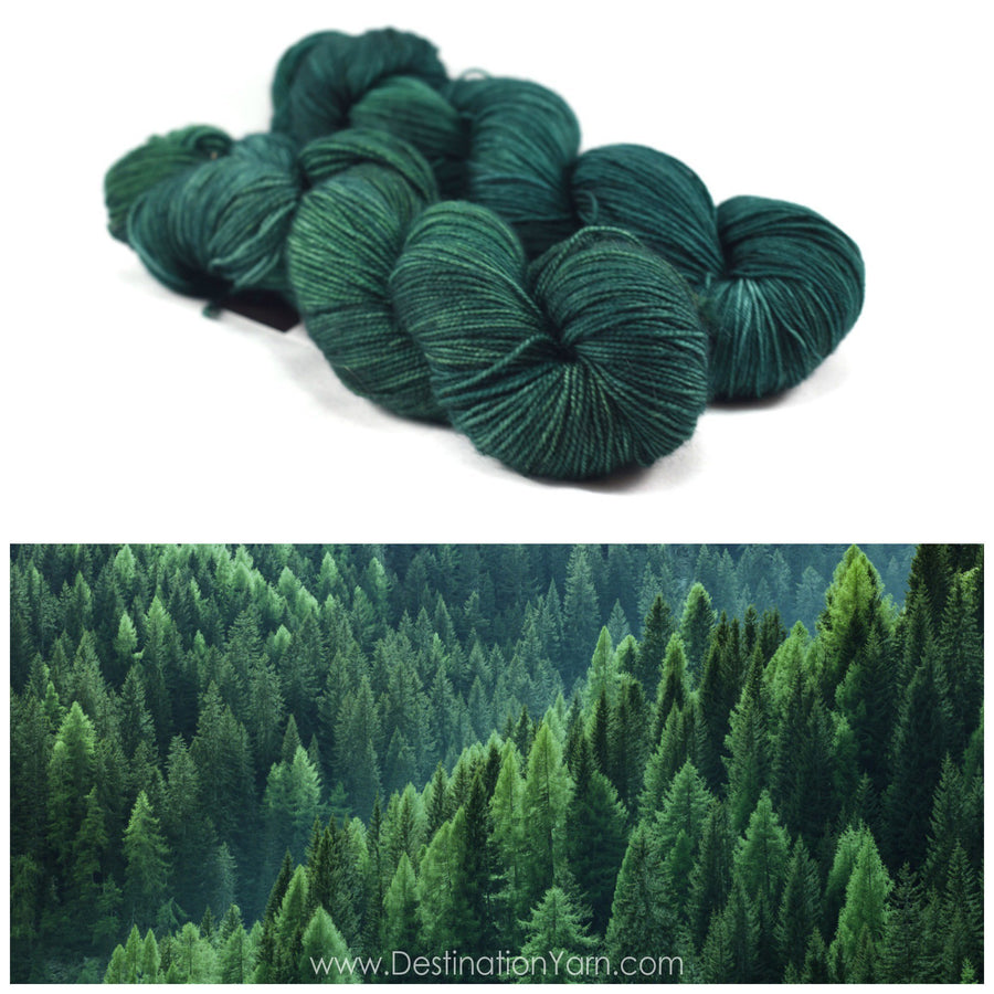 Destination Yarn fingering weight yarn PINE FOREST