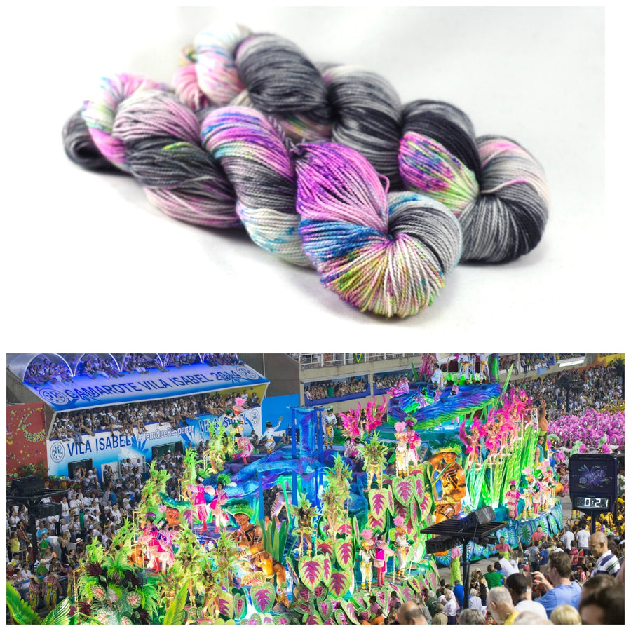 Destination Yarn fingering weight yarn RIO CARNIVAL