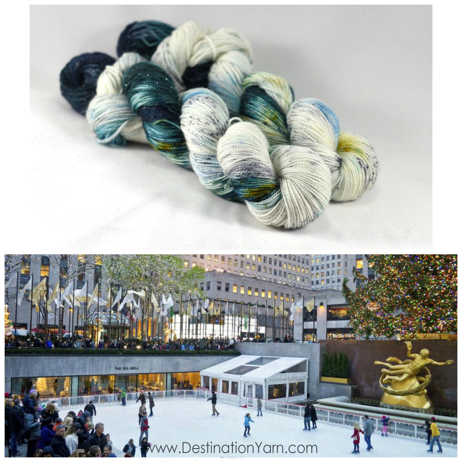 Destination Yarn fingering weight yarn Rockefeller Ice Rink