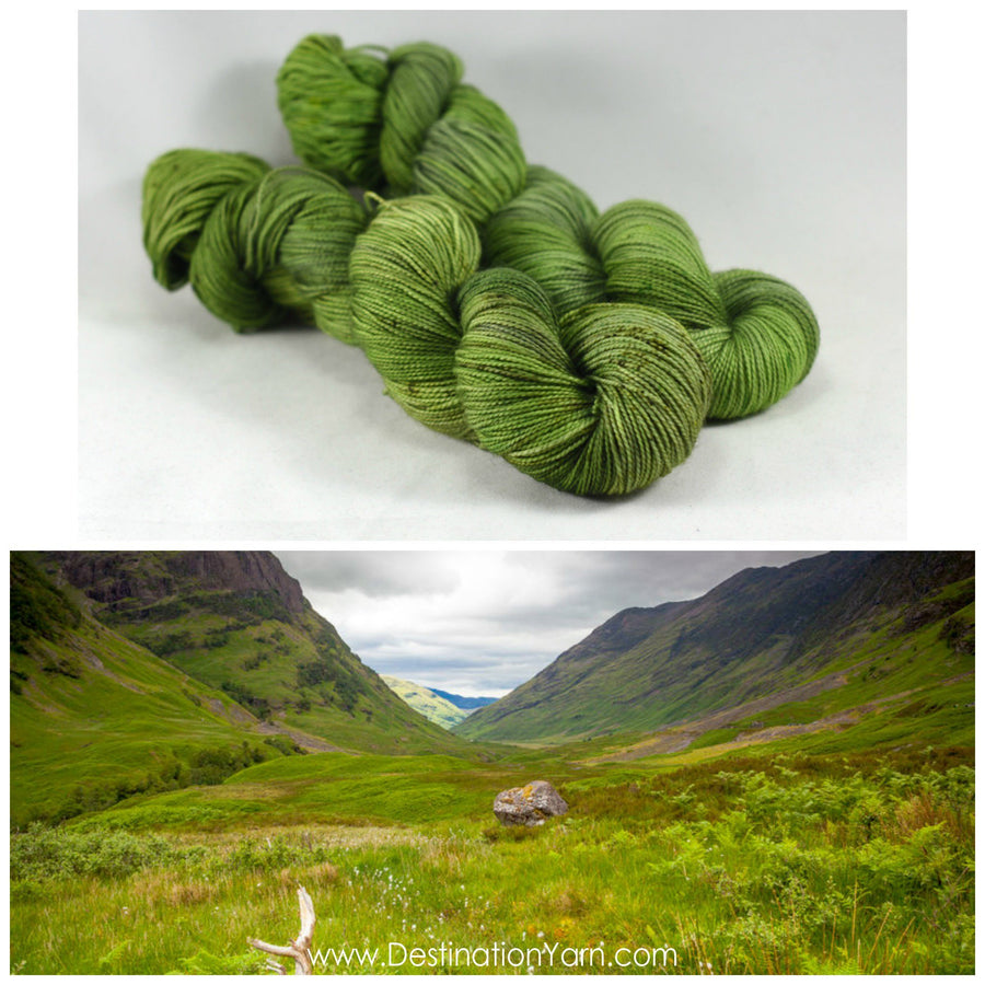 Destination Yarn fingering weight yarn Scottish Highlands