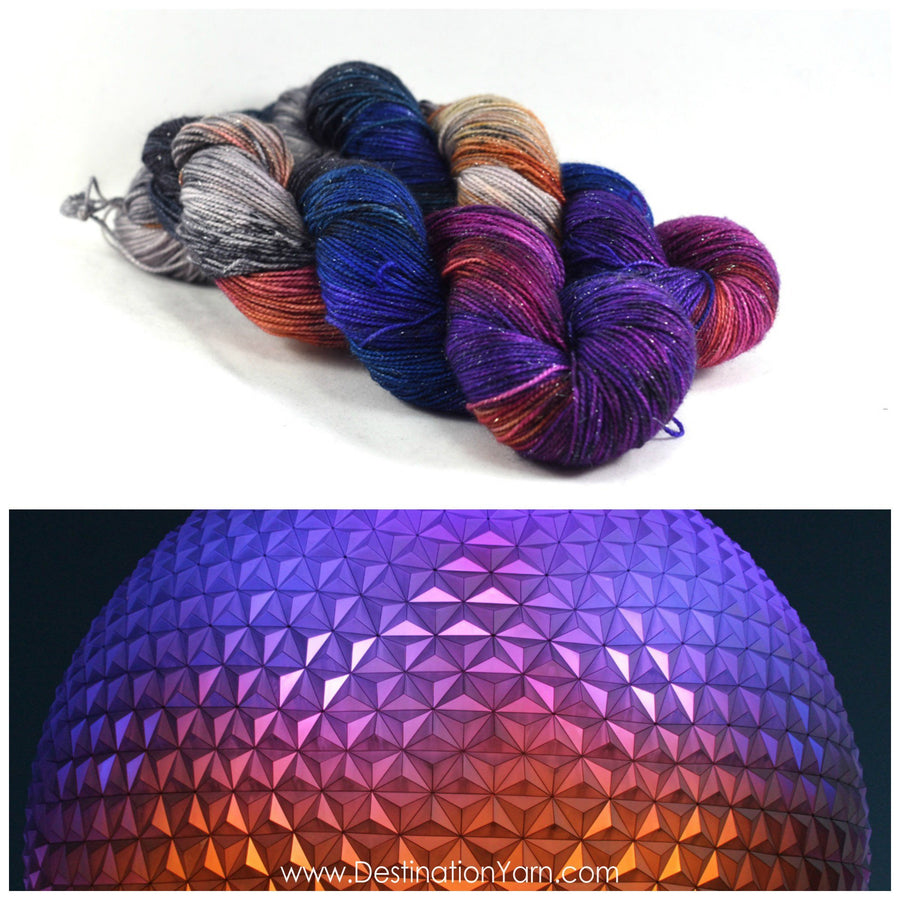 Destination Yarn fingering weight yarn SPACESHIP EARTH