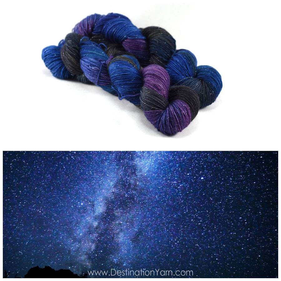 Destination Yarn fingering weight yarn STARGAZING