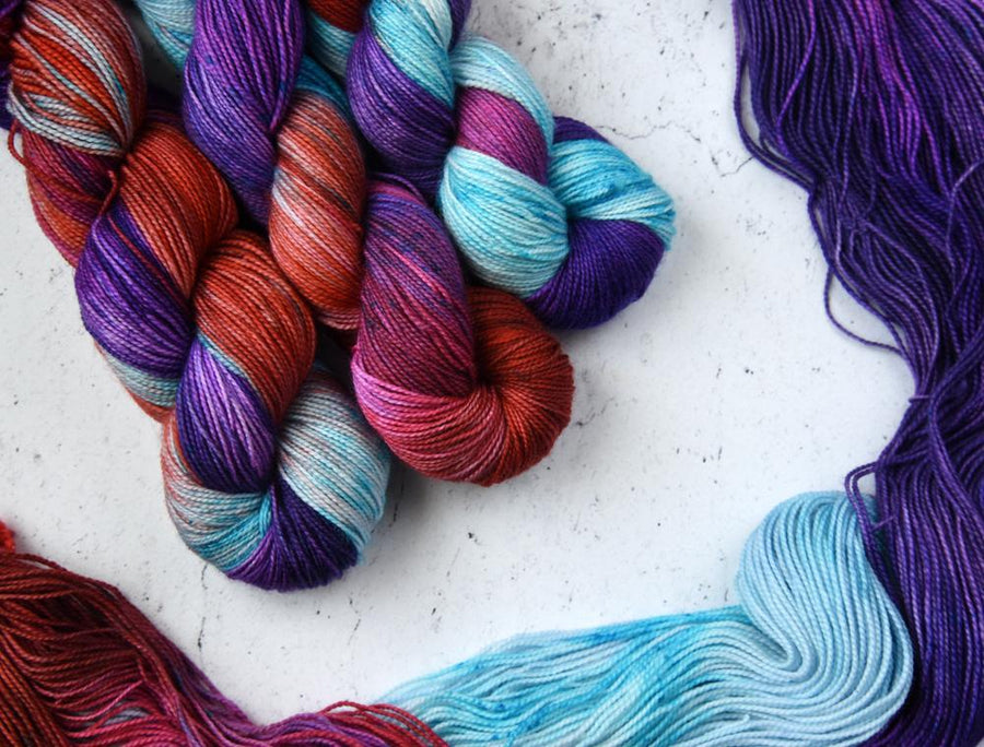 Destination Yarn fingering weight yarn T*ts Out at the Beach