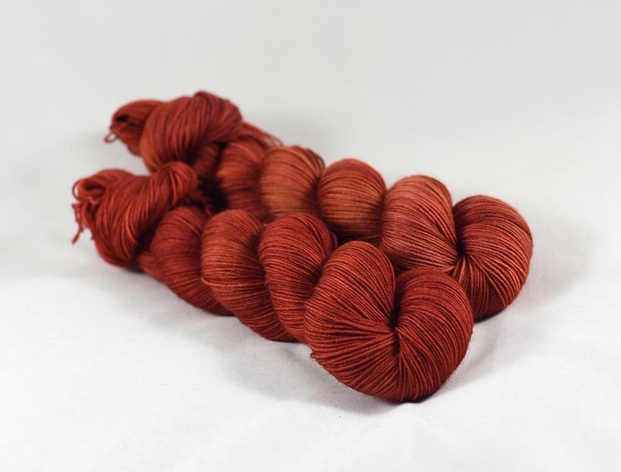 Destination Yarn fingering weight yarn Terra Cotta - dyed to order
