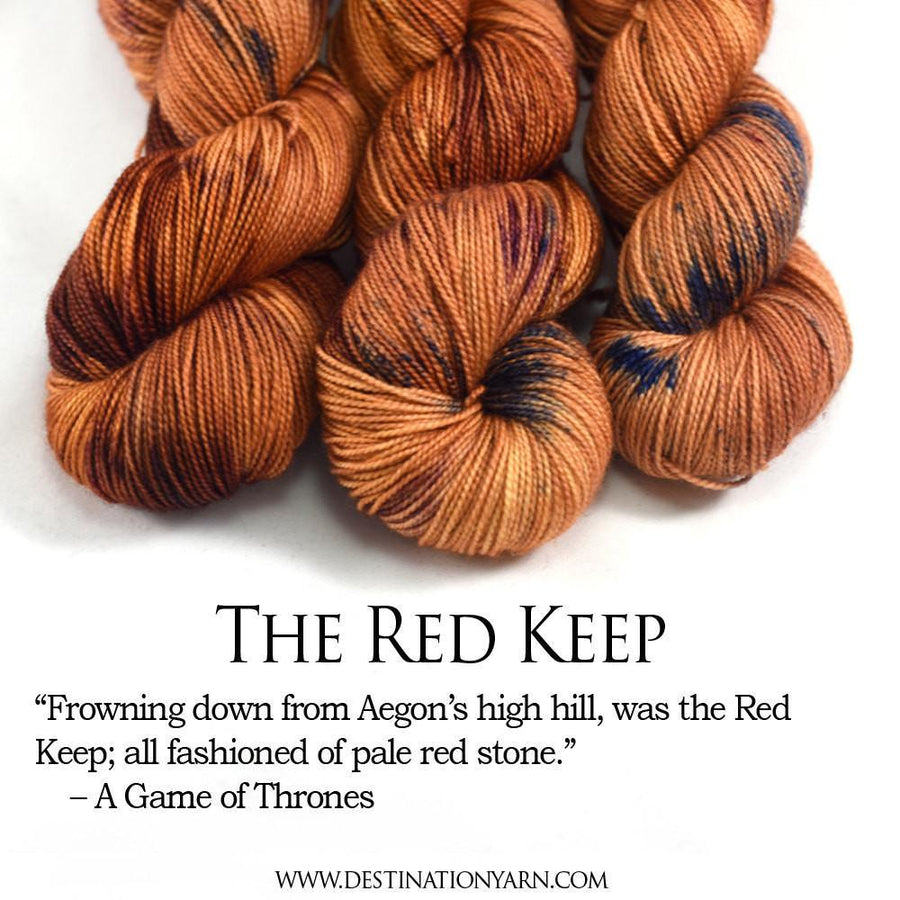 Destination Yarn fingering weight yarn Postcard (fingering weight) THE RED KEEP - dyed to order