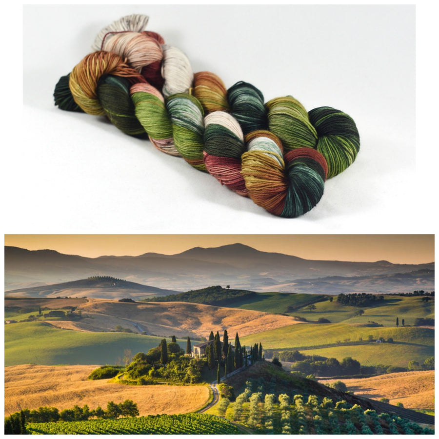 Destination Yarn fingering weight yarn Tuscan Set - dyed to order