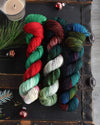 Destination Yarn fingering weight yarn Underneath the Christmas Tree