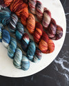 Destination Yarn fingering weight yarn Variegated Planets Set - DYED TO ORDER