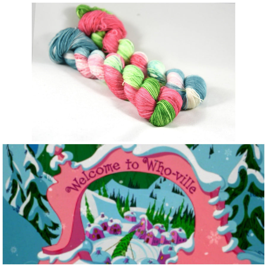 Destination Yarn fingering weight yarn Whoville