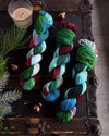 Destination Yarn fingering weight yarn Zoom Christmas