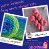 Destination Yarn Knitting Kit Hug Shot Kit - Yarn Friends Kit - Sea Glass / Plumeria