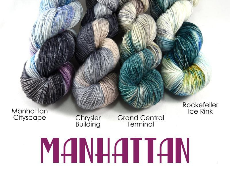Destination Yarn Knitting Kit Manhattan Collection - FULL SKEIN SET