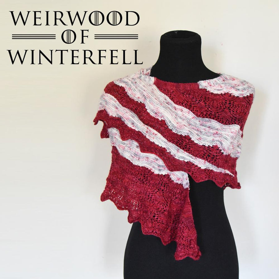 Destination Yarn Knitting Kit WEIRWOOD SHAWL KIT - the Wall
