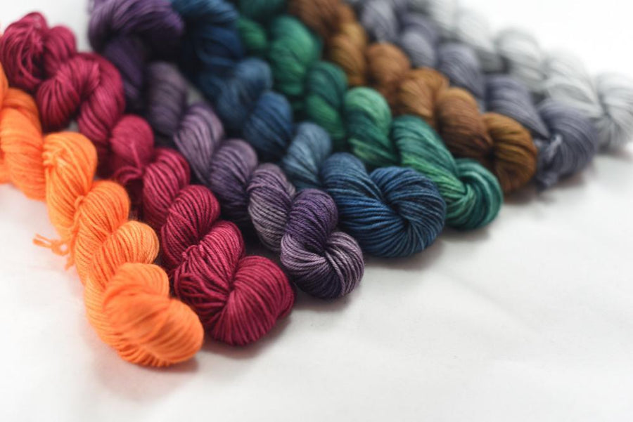 Destination Yarn Mini Skein Set Fall Tonal Mini Skein Set