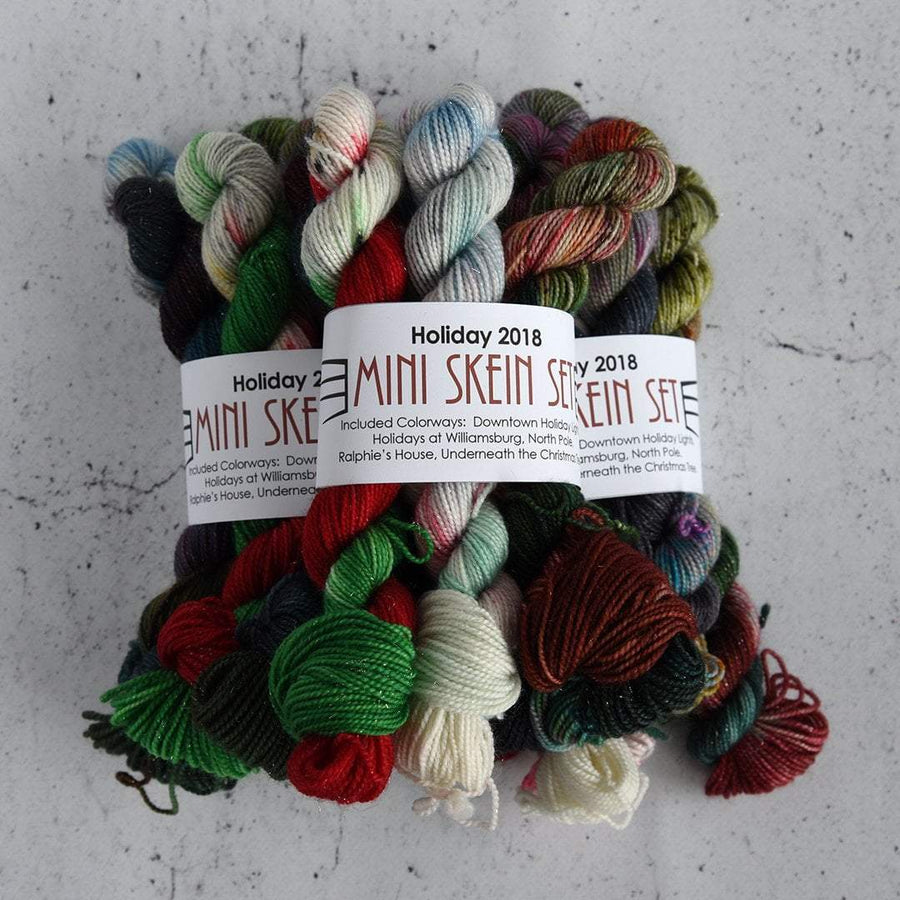 Destination Yarn Mini Skein Set Holiday 2018 Mini Skein Set