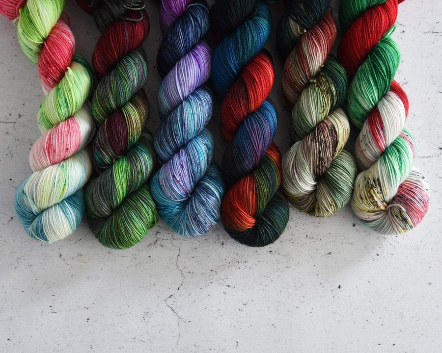 Destination Yarn Mini Skein Set Holiday 2019 Mini Skein Set
