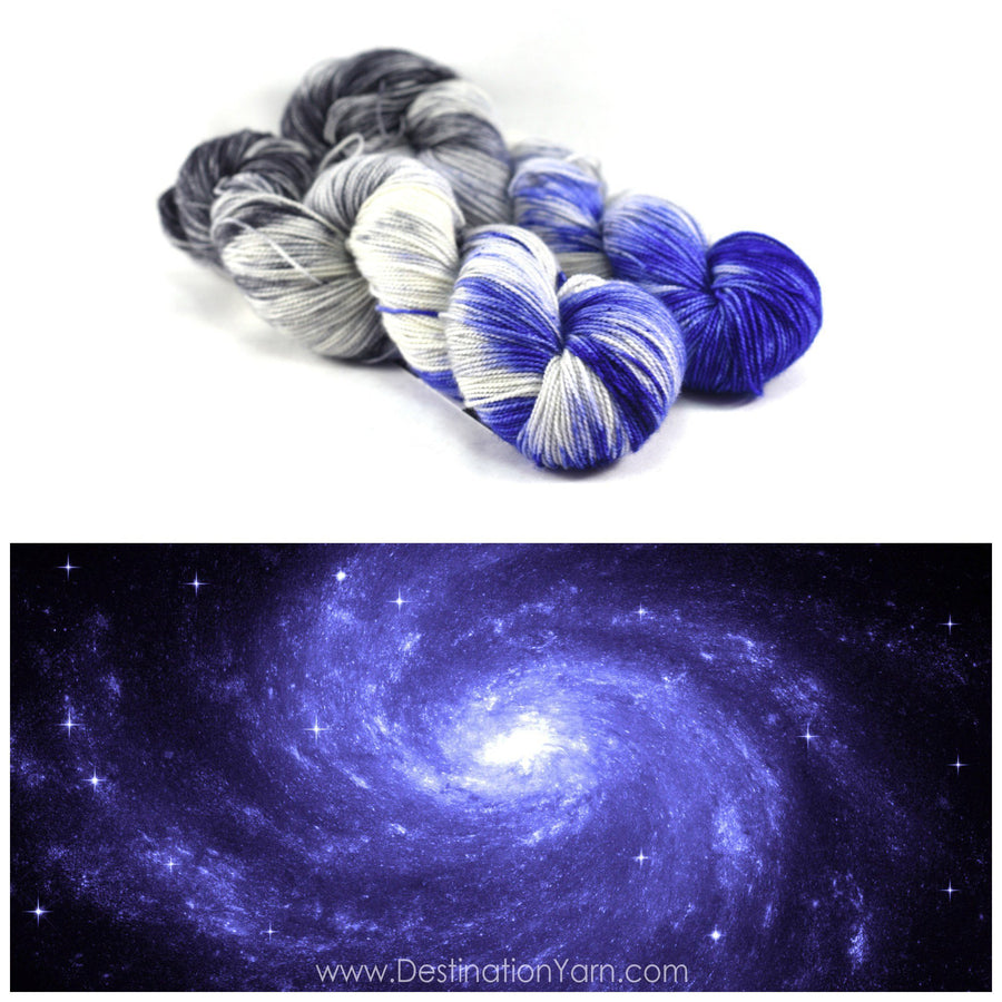 Destination Yarn Worsted Weight Yarn Milky Way - Suitcase