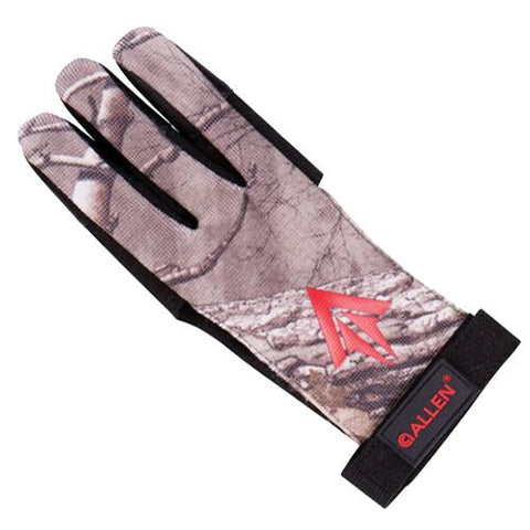 Allen Cases Ambidextrous Traditional Archery Glove - Medium, Realtree Xtra